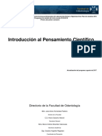 Introducción Al Pensamiento Científico 2018-2019 UNAM