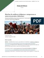 Marchas de Mulheres Indígenas e Camponesas Se Unem Em Pressão a Bolsonaro - 14-08-2019 - Poder - Folha
