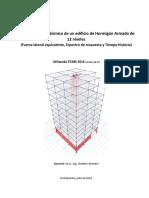 Análisis y diseño sísmico edificio 12 niveles H°A° (Fuerza lateral equivalente, Espectro de respuesta y Tiempo historia) ETABS 2016.2.0.pdf