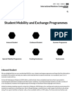 UKM Student Mobility and Exchange Programmes