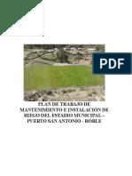 Plan de Trabajo Mantenimiento de Estadio