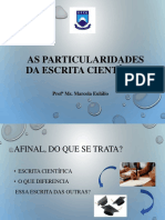Primeiro dia de aula- particularidades da escrita científica - ATUAL.ppt