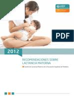 Recomendaciones sobre la lactancia materna