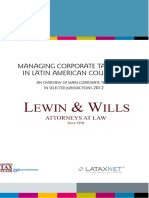 Managing Corporate Taxes in Latin America