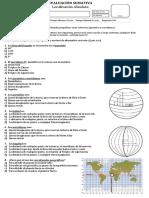 Evaluación de Contenidos n° 2- Cuarto Básico (Localización Absoluta)