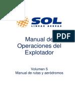 Manual de rutas y aerodromos Sol Lineas Aereas