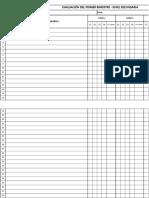 Registro Auxiliar de Evaluacion Secundaria PRIMER AÑO