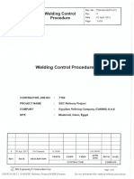 Welding Control Procedure