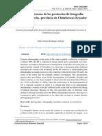 Fotografía forense de los protocolos de fotografía forense Riobamba, provincia de Chimborazo-Ecuador