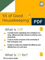 5S of Good Housekeeping
