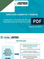6. Inspeccion y Certificacion de Alimentos y Materias Primas