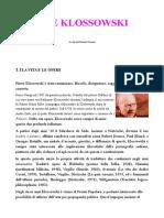 Fabrizio Cerroni - Pierre Klossowski