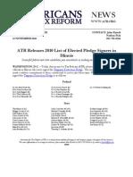 ATR Releases 2010 List for Illinois