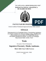 Determinación de Las Propiedades Físicas y Características Anatómicas