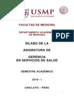 Silabo Gerencia Servicios de Salud 2019-1 CS