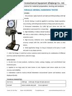 Portable Hydraulic Brinell hardness tester B-3000P