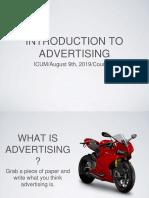 Introducción a publicidad