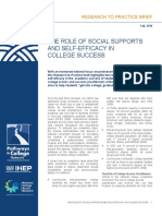 Social Supports and Self-efficacy in College Success