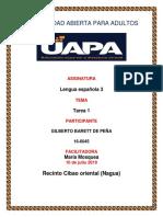 Tarea 1 de Lengua Española 3