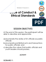 Code of Ethical Standards