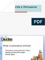 How to Write a Persuasive Essay.ppt