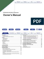 Denon AVR-X1400 Manual