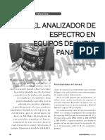 Panasonic Analizador Espectro