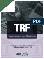 Temas mais cobrados no TRF