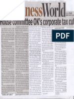 Business World, Aug. 15, 2019, House committee OKs corporate tax cut.pdf