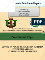 A STUDY ON POWER TRANSMISSION SYSTEM IN AUTOMOTIVE VEHICLE AT VEHICLE CARE PVT. LIMITED