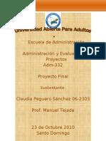 Proyecto Final Claudia Peguero 062303