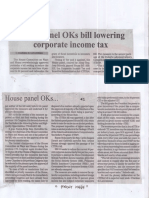 Manila Bulletin, Aug. 15, 2019, House panel OKs bill lowering corporate income tax.pdf