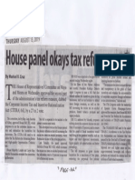 Manila Standard, Aug. 15, 2019, House panel okays tax reform part 2.pdf