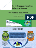 Muarif Water Quality at Silvoaquaculture Pond in Indramayu Regency