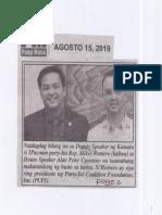 Pang-Masa, Aug. 15, 2019, Naidagdag bilang isa sa Dep. Speaker ng Kamara si 1Pacman Rep. Romero.pdf