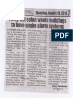Peoples Journal, Aug. 15, 2019 Party-list solon wants buildings to have quake alarm systems.pdf