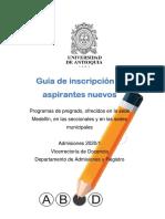 inscripcion y admision udea 2020-1