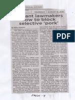 Philippine Star, Aug. 15, 2019, Militant lawmakers vow to block selective pork.pdf