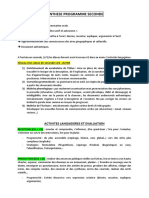 Synthèse programme seconde-réforme 2019