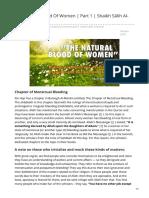 The Natural Blood of Women Part 1 Shaikh Sālih Al-Fawzān