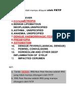 Diagnosa Yang Tidak Mampu Dilayani Oleh FKTP