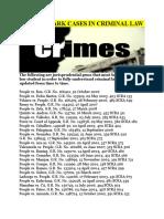 236 Landmark Cases in Criminal Law