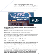 The LGBTQ Movement Homosexuality and Islam Understanding Muslim Attitudes to Homosexuality Islam 57