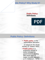 1. What is Public Policy Why Study It