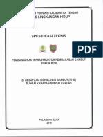 Spesifikasi Teknis Sumur Bor