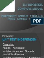 Uji Hipotesis Unpaired Dan Paired t Test 2016