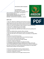 AMISOM and FGS commence audit of companies and organisations