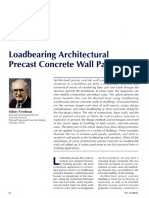 Load bearing RCC precast wall Design and Details