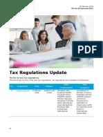 Tax Regulations Update