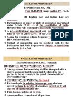 1. Unit 5 Law of Partnership